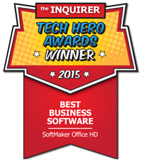 SoftMaker Office HD: Gewinner bei den INQUIRER-Awards